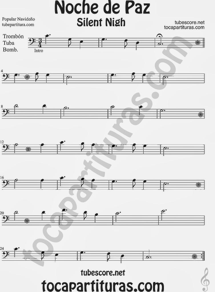 Diegosax Noche De Paz Partitura De Villancico Partitura Para Flauta Saxo Alto Trompeta Violín Clarinete Trombón Saxo Soprano Saxo Tenor Oboe Tuba Bombardino Y Trompa Partitura De Villancico Jazz Y Sax