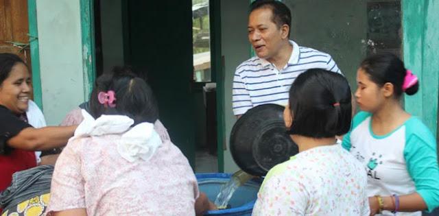 Kekeringan Di Sragen, Partai Gerindra Sumbang Air Bersih