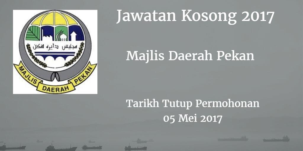 Jawatan Kosong MdPekan 05 Mei 2017