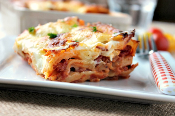 Cheese and Bacon Lasagne
