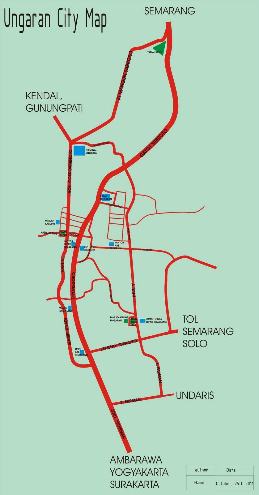 Beyond the Traveling: Peta Kota Ungaran, Kabupaten Semarang