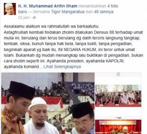 densus 88 kembali meneror umat islam, ustadz arifin ilham angkat bicara