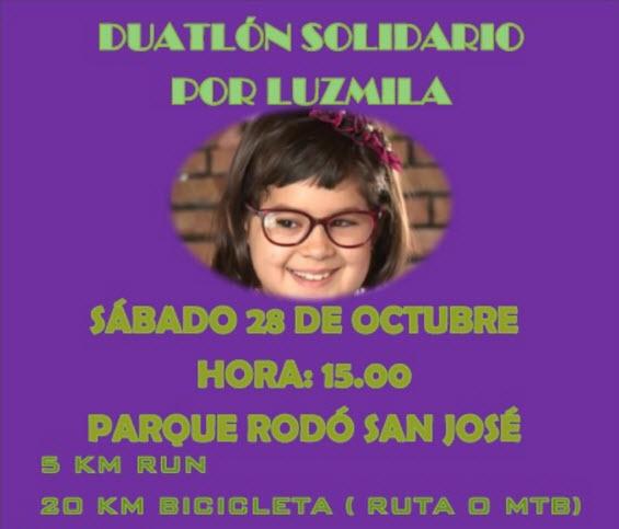 Duatlón solidario por Luzmila en San José (28/oct/2017)