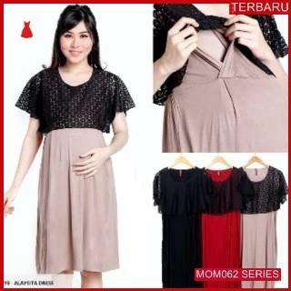 MOM062D15 Dress Hamil Menyusui Elizabeth Brokat Dresshamil Ibu Hamil