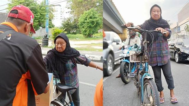 Aksi Seorang Nenek di Pekanbaru Bikin Relawan Gempa dan Tsunami Donggala-Palu Teteskan Air Mata
