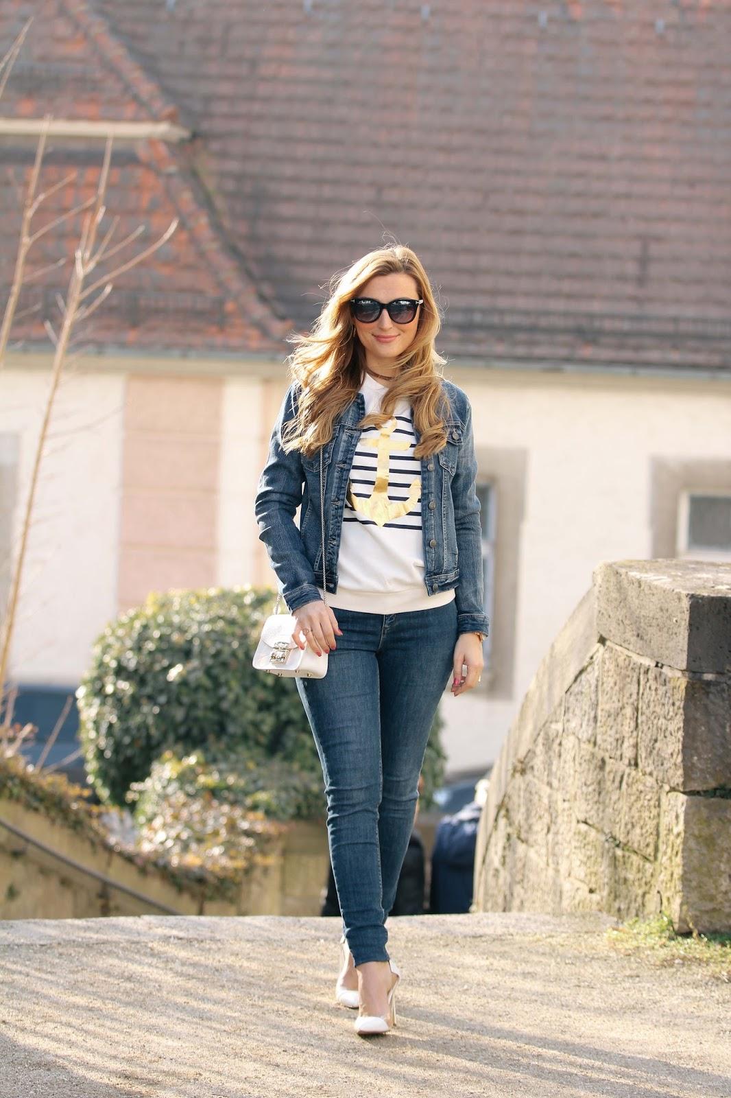 Blogger-mit-jeans-jacke-weiße-high-heels-jessica-buurman