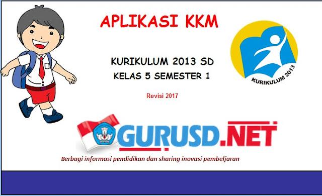 Aplikasi KKM Kelas 2 dan 5 Kurikulum 2013 Revisi 2017