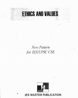 ETHICS AND VALUE [IES MASTER PUBLICATION]