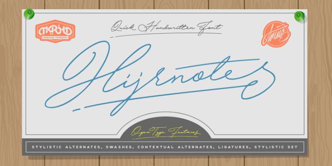 Download Hijrnotes Signature Font