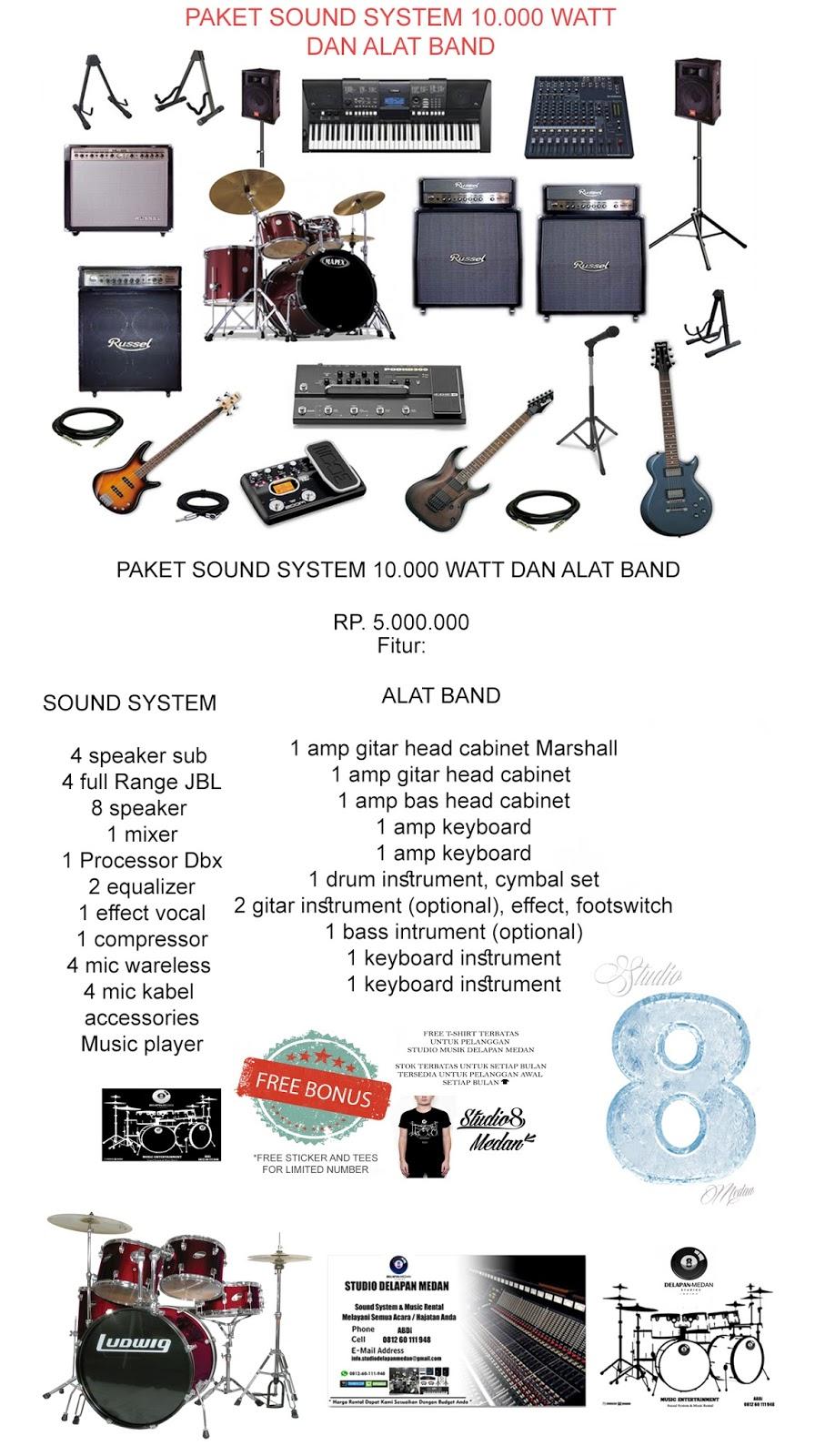 Studio Musik Delapan Medan 1 Set Paket Alat Keyboard Instrument