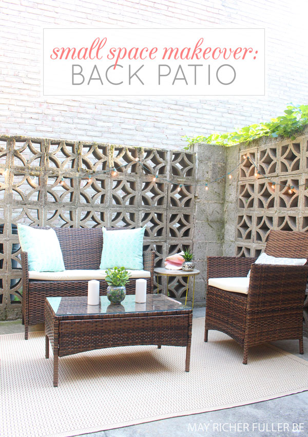 7 Small Space Makeovers: Small Space Makeover: Back Patio