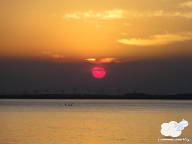 Pôr-do-sol Lagoa de Itaipu, Foz do Iguaçu/PR - Desafio Facebook