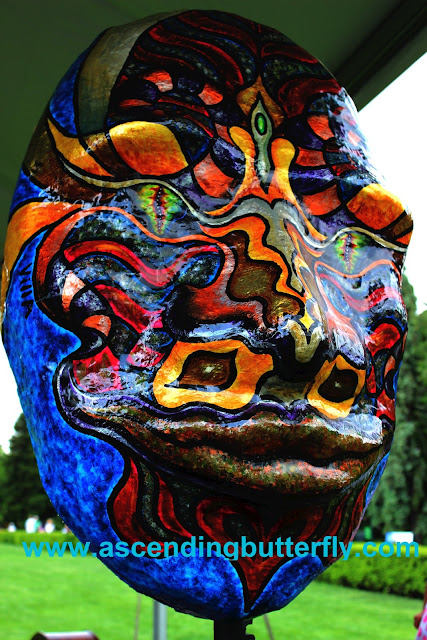 Paper Mache Mask Sculpture designed by Alberto Villalobos of The Villalobos Brothers on display at The New York Botanical Garden