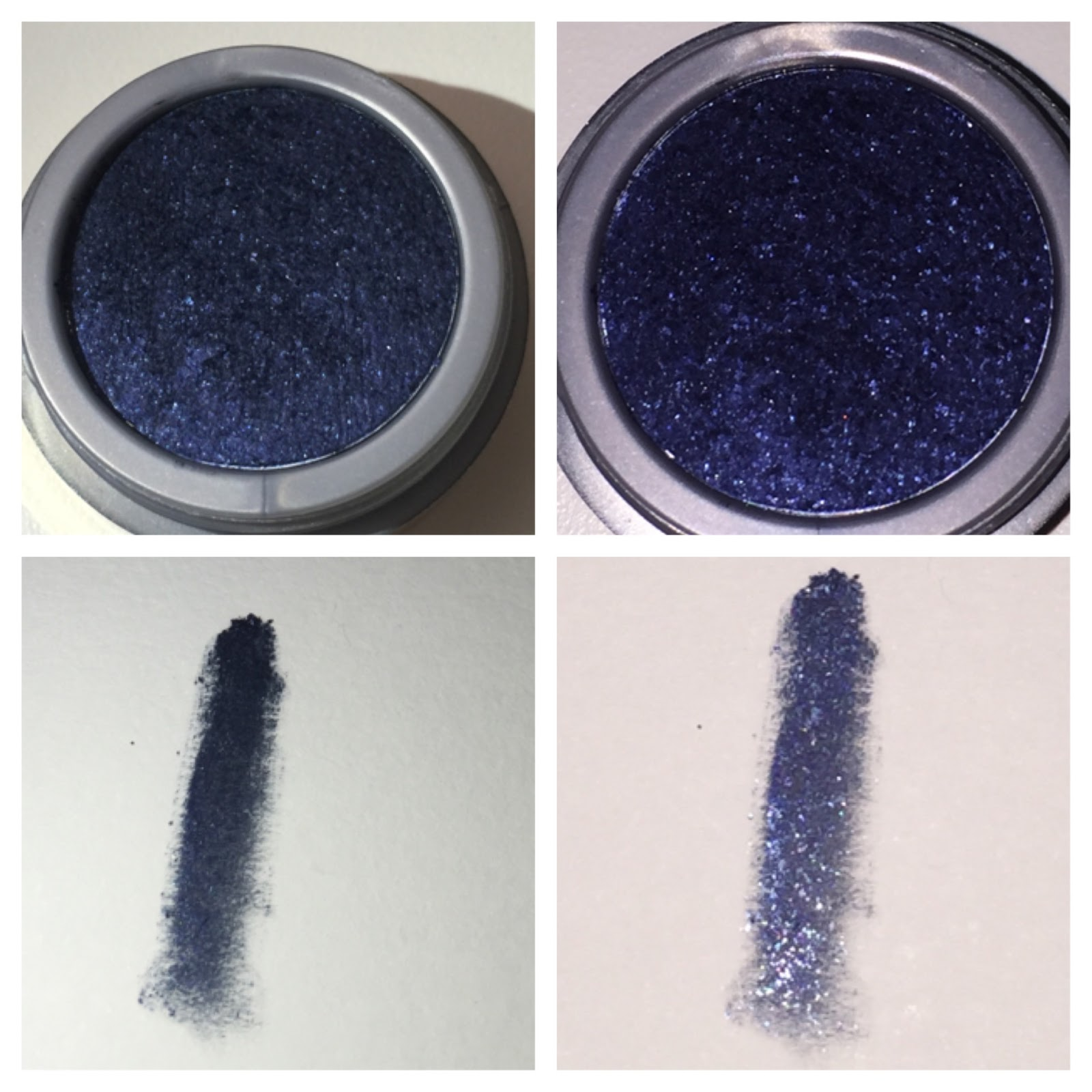 Milani Fierce Foil Eyeliner Review and swatch navy foil