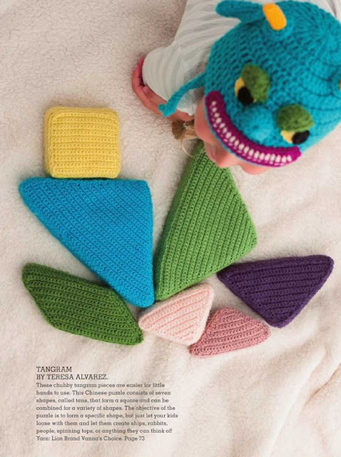Patrón #1252: Tangram a Crochet