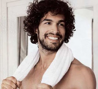 Thick Long Men's Curly Hairstyles with Beard