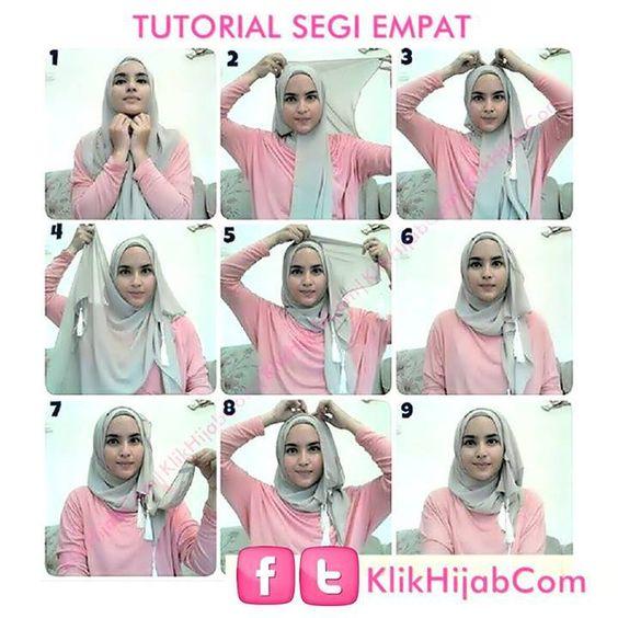 Tutorial Hijab Segi Empat Simple Beauty A