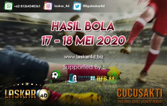HASIL BOLA JITU TANGGAL 17 – 18 MEI 2020