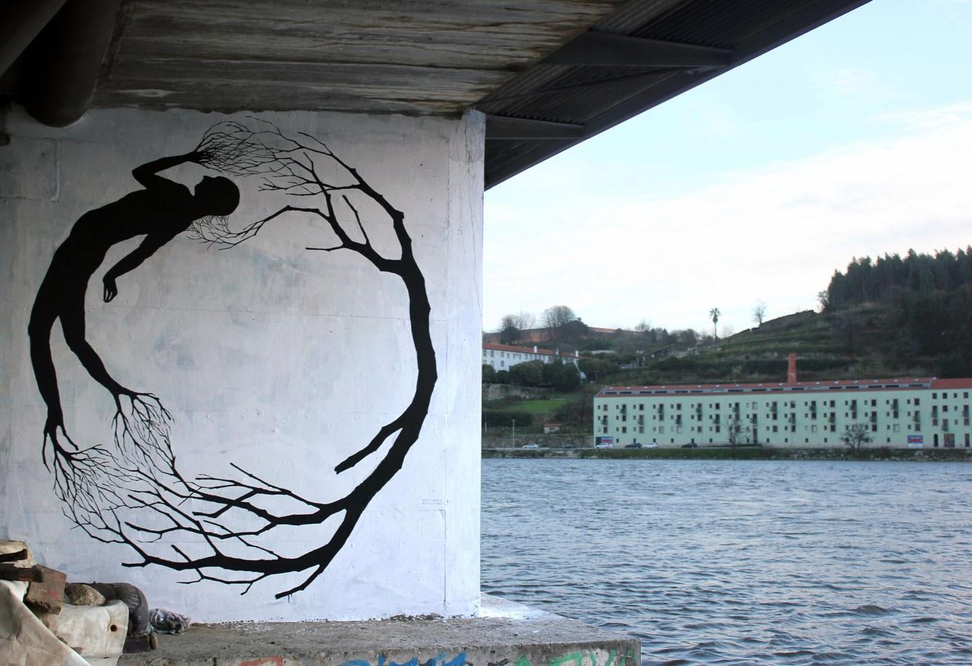 Street Art Collaboration By David De La Mano and Pablo S. Herrero In Porto, Portugal. 1