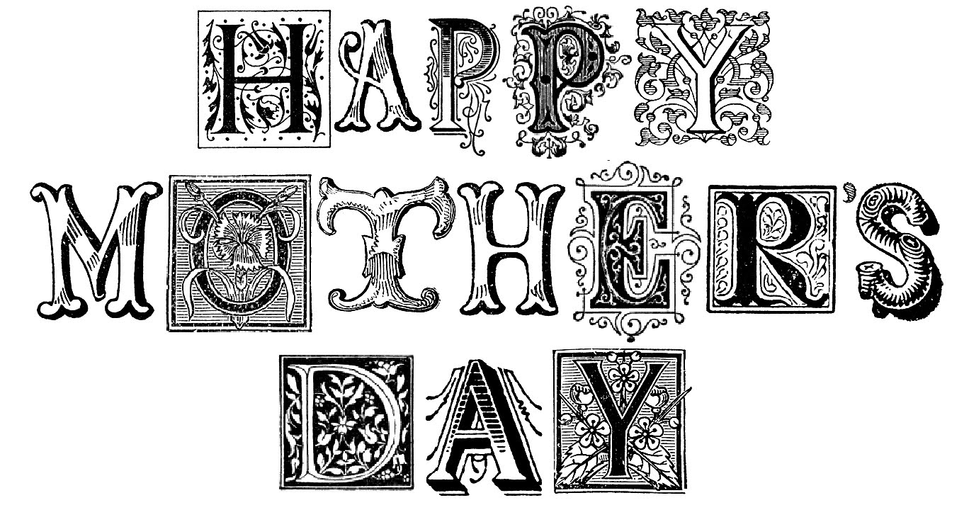 early play templates: Mother's Day Lettering