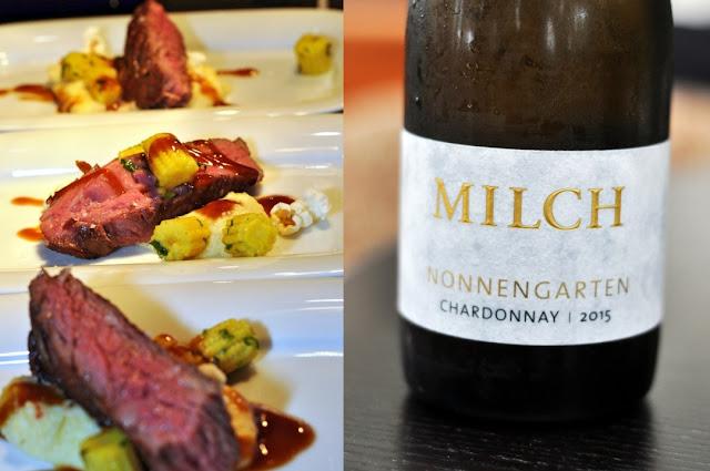 Bavette vom Nebraska-Rind mit Chardonnay trocken vom Weingut Milch