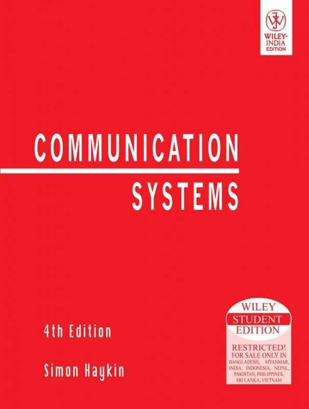 Pdf Communication Systems Simon Haykin Engineering Ebook