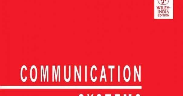 Electronics Today: Communication Systems 4Th Edition Simon