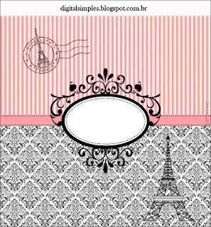 Etiquetas para Imprimir Gratis de Precioso París.