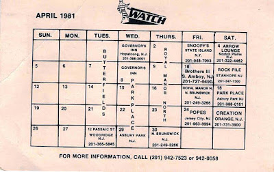 The Watch club lineup April 1981