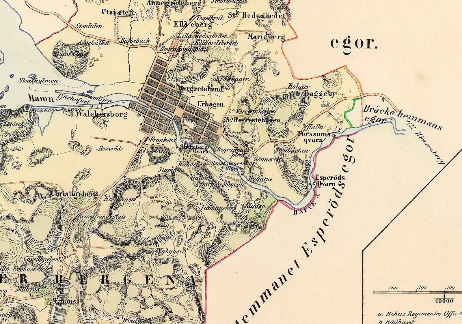 karta uddevalla uddevallabloggen.se: Mera Uddevalla 1855 karta uddevalla