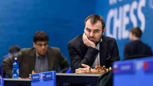 Shakhriyar Mamedyarov affronte le champion du monde norvégien Magnus Carlsen - Photo © Alina L'Ami