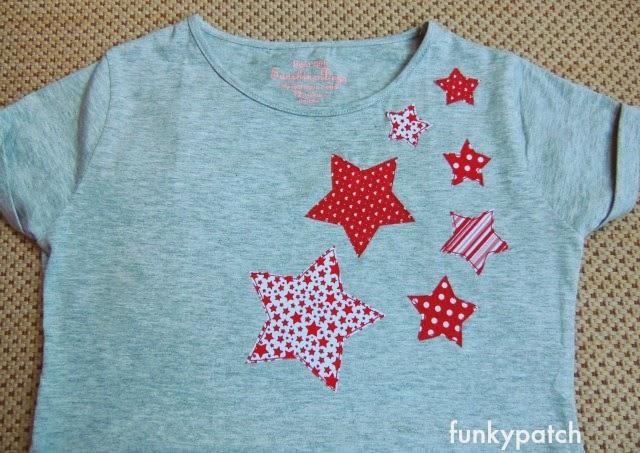 camiseta con aplicaciones de estrellas-funkypatch