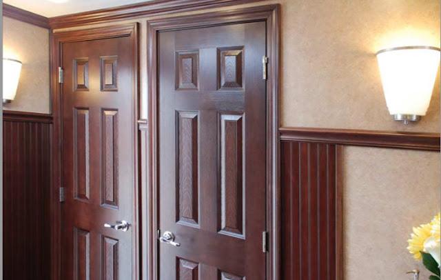 Lockable Wood Doors in The Oxford Restroom Trailers