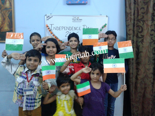 RAAH NGO Aim to Celebrate Independence Day is to let the Students Learn about the History of their Country and know the Importance of National Creative Minds and did Amazing Art Activities.