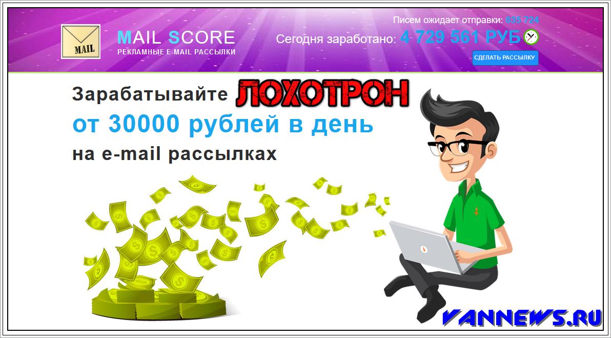 MAIL SCORE - Отзывы? Рекламные Email рассылки