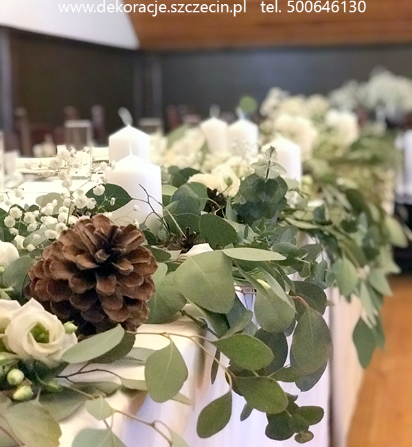 dekoracja w stylu boho Szczecin eukaliptus
