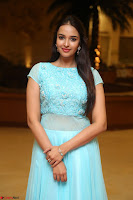Pujita Ponnada in transparent sky blue dress at Darshakudu pre release ~  Exclusive Celebrities Galleries 014.JPG