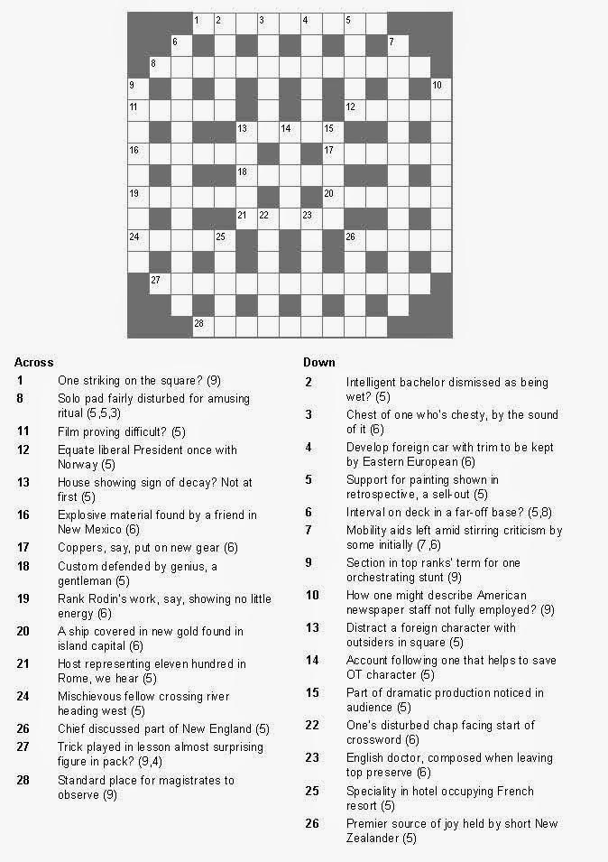 Telegraph cryptic crossword help. Telegraph cryptic
