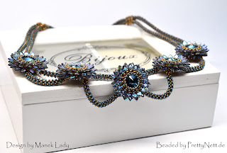 "Necklace ""Chrysamtheme"" - beaded by PrettyNett.de"