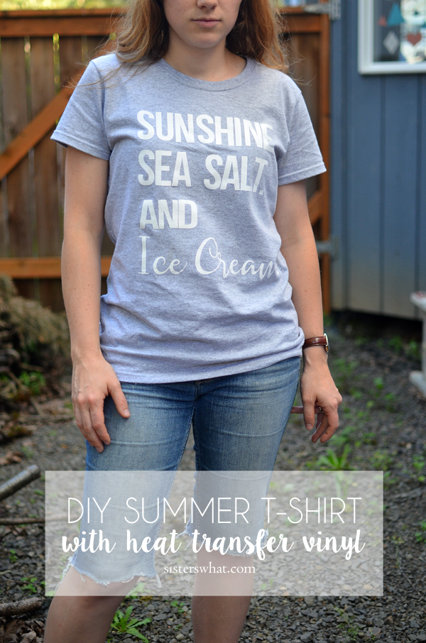 the perfect shirt for summer!! Sunshine. Sea Salt and Ice Cream DIY shirt