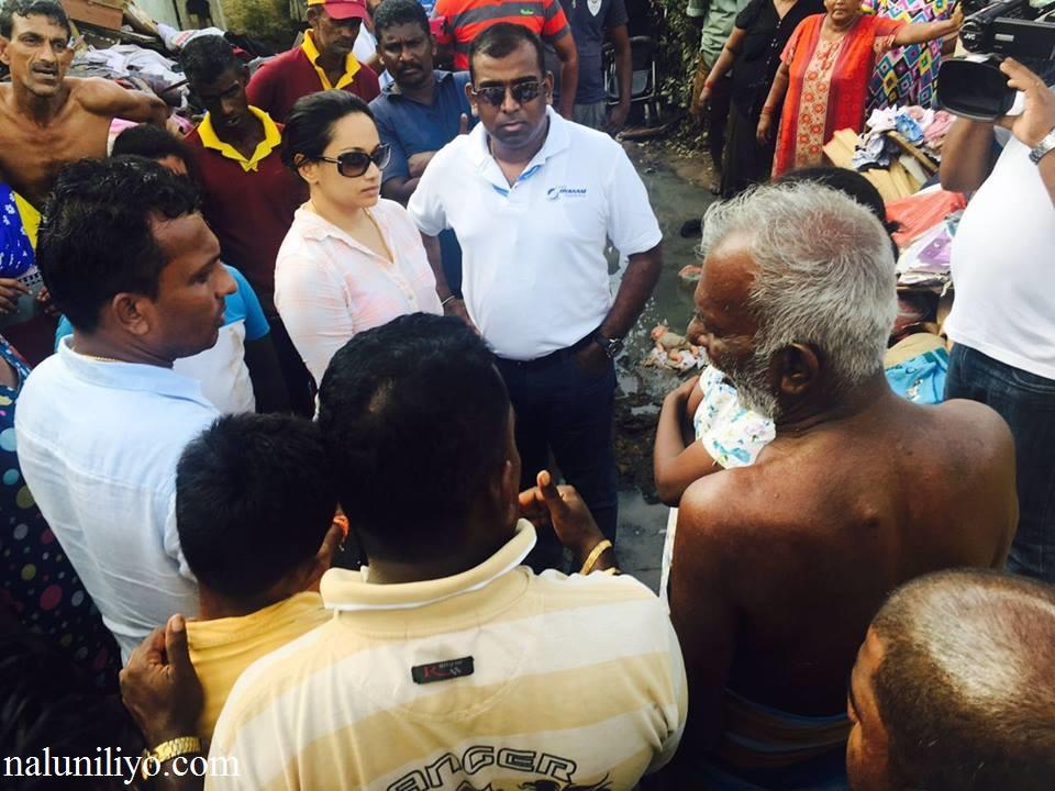 Janaki Wijerathne helping people