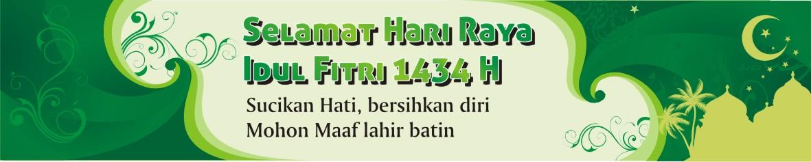 Spanduk Lebaran Idul Fitri Green CDR CorelDRAW FIle Free ...