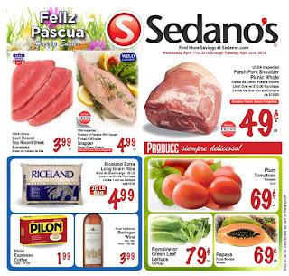 ⭐ Sedanos Ad 4/24/19 ✅ Sedano's Weekly Ad April 24 2019