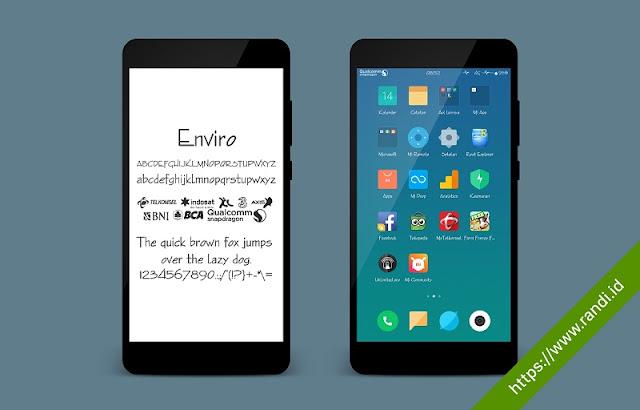 Font Enviro Support Unicode Mtz untuk Xiaomi