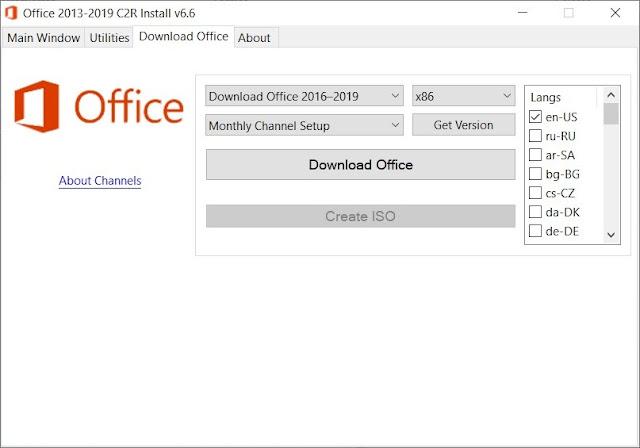 Office 2013-2019 C2R Install imagenes
