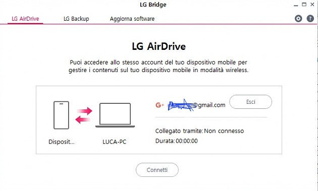 LG Airdrive LG Bridge Software
