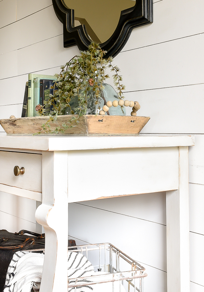 Seagull Gray painted antique console table