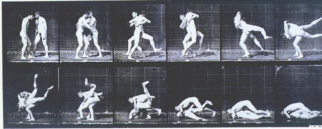 Plate 347, 'Wrestling; Graeco-Roman'. 'Wrestling; Graeco-Roman' 1887, Eadweard Muybridge (1830-1904); Collotype process