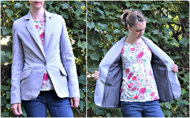 Me Made: Fitted Gray Blazer