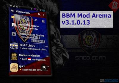 BBM Mod Tema Arema Cronus v3.1.0.13 Apk